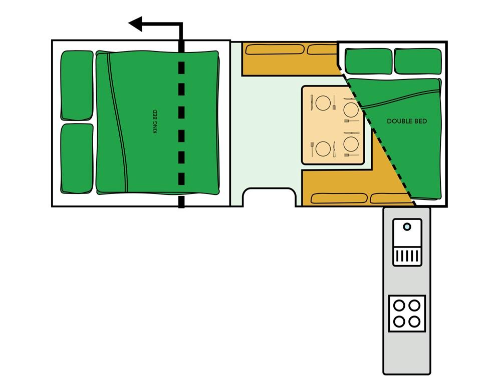 Outback Jtrack Camper Floor plan