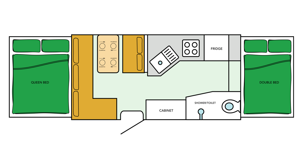 Goldstream Camper Floor Plan